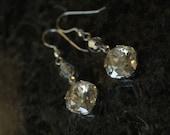 Sparkling Swarovski Rhinestone Ear Bobs Earrings