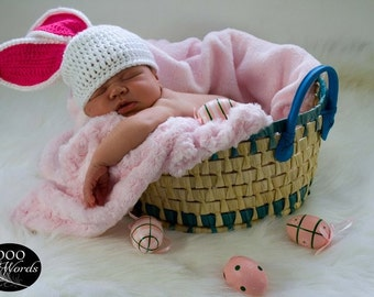 Baby Easter Hat - Baby Bunny Hat - Easter Bunny Hat - Baby Girl Easter Hat - Easter Hat - Easter Hat For Baby Girl