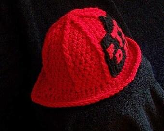 Firefighter Hat - Baby Firefighter Hat - Baby Girl Firefighter Hat - Baby Fireman Hat - Firefighter - Baby Girl Firefighter Helmet
