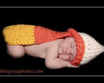 Baby Halloween Costume - Candy Corn Photo Prop - Newborn Halloween Costumes - Baby Halloween Outfit - Baby Costume - Halloween Costume