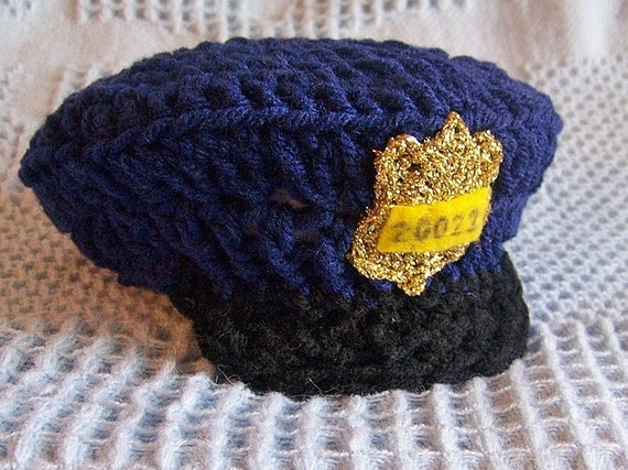 Baby Police Hat You Pick The Colors And Size