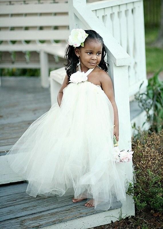 Ivory Tutu Flower Girl Dress- LG