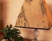 vintage glass lamp with charming old world mariner map shade