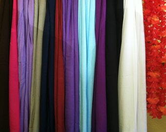 FULL Length rayon Pareu any solid color pareo