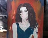 Zombie Girl Painting