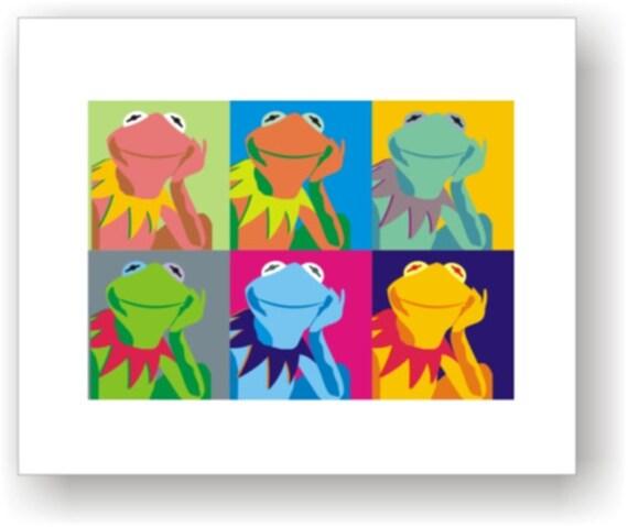 8x10 Pop Art Print / C Wiedenheft / Kermit