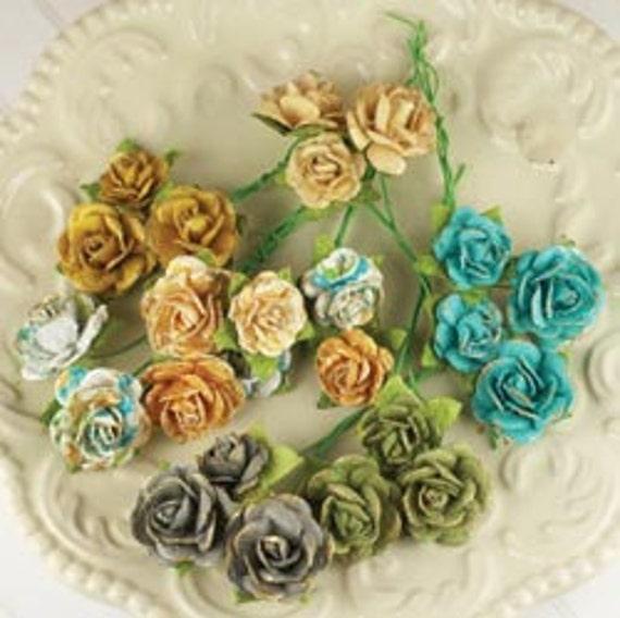 NEW - PRIMA Flower - ALLA Prima Avon Rose Mulberry Paper Flowers
