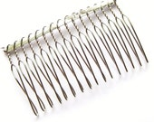 2.5 Inches (6.3 cm) Wide Silver Plated Metal Hair Comb for fascinators and millinery