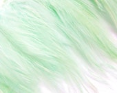 Mint Green Hackle Feather Fringe for fascinators, millinery and crafts (60 plus feathers)