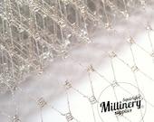 Metallic Silver Russian / French Veiling for wedding birdcage veils & fascinator millinery 1 Yard