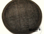 Chocolate Brown Round Millinery Sinamay Hat Base for Fascinators and Cocktail Hats