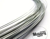Sprung Silver Millinery Wire for Brims & Hat Making 0.9mm, 3 yards