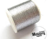 Metallic Sewing / Embroidery Thread - Silver 100 Yard Spool