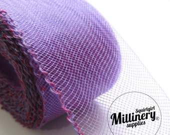 x3 Yards Violet Purple 2 inch wide Crin Crinoline Horsehair Braid for Hats and Fascinators