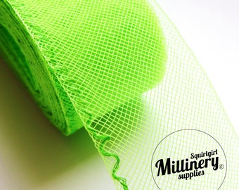 3 Yards Neon Green 2 inch wide Crin Crinoline Horsehair Braid for Hats and Fascinators