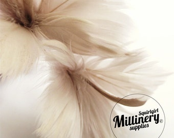 Mink Colour Goose Feather Flower Hat Trim for Fascinators, Wedding Veils and Hat Making