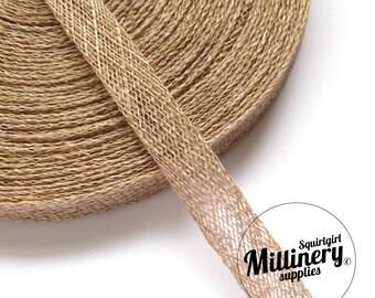 x2 yards 1cm Wide Latte Brown Sinamay Bias Binding for Millinery Hats & Fascinators