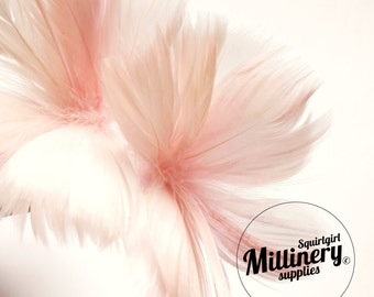 Light Pink Goose Feather Flower Hat Trim for Fascinators, Wedding Veils and Hat Making