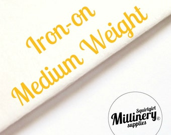 "Medium Weight Fusible Iron-On Interfacing Lining Sewing Fabric (1 Sheet) 36"" x 27"" Wide"