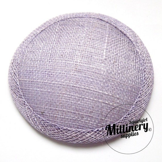 Lilac Round Millinery Sinamay Hat Base for Fascinators, Cocktail Hats and Wedding Veils