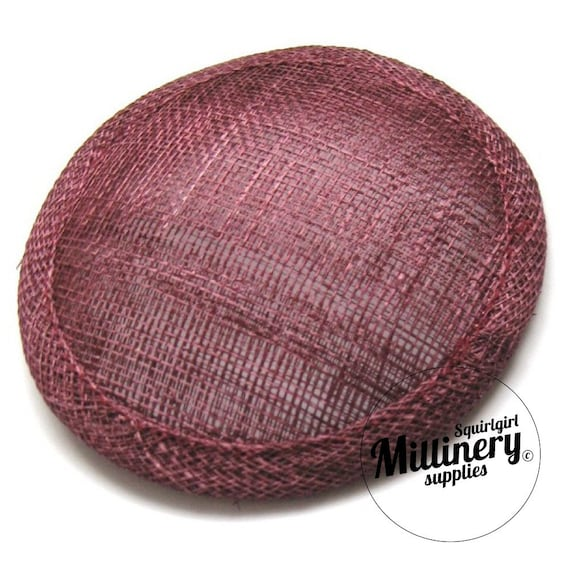 Burgundy Round Millinery Hat Base for Fascinators and Cocktail Hats