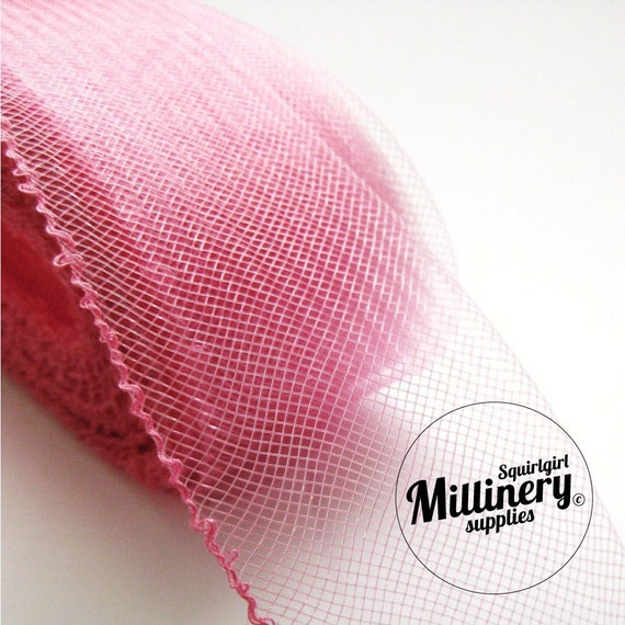 3 Yards Rose Pink 2 inch wide Crin Crinoline Horsehair Braid for Hats and Fascinators