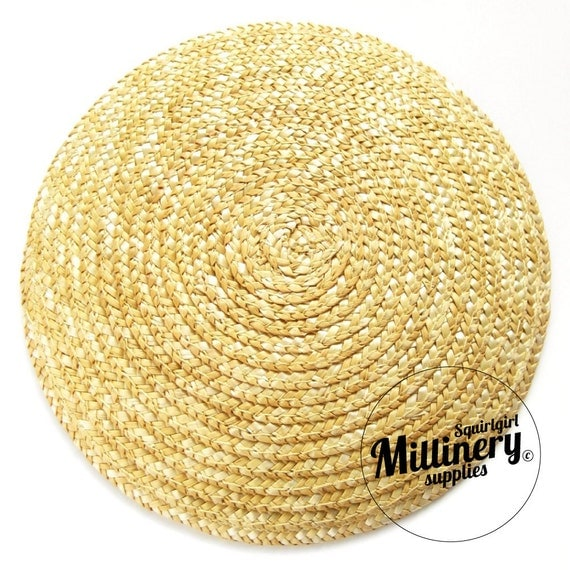Large Round Straw Millinery Hat Base for Fascinators and Cocktail Hats