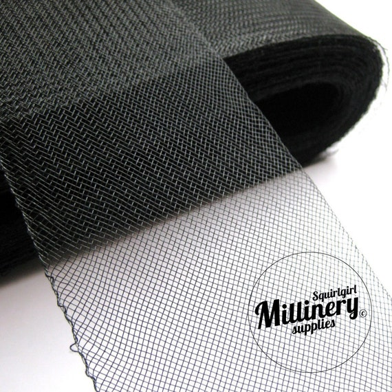 3.25 Inch Wide Crin Cinoline Horsehair Braid Millinery Ribbon Trim - Black