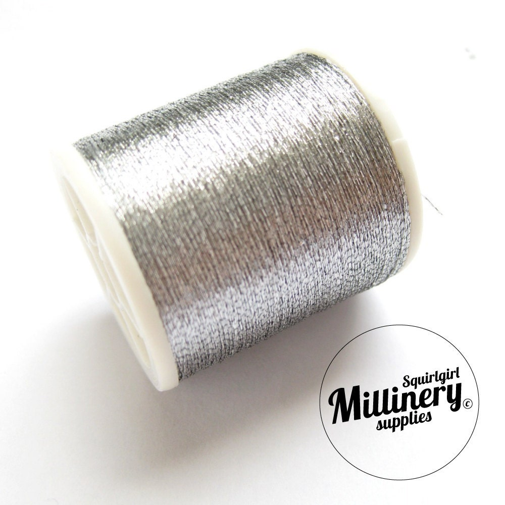 Metallic Sewing Embroidery Thread Silver on Create Your Own Traceable Name