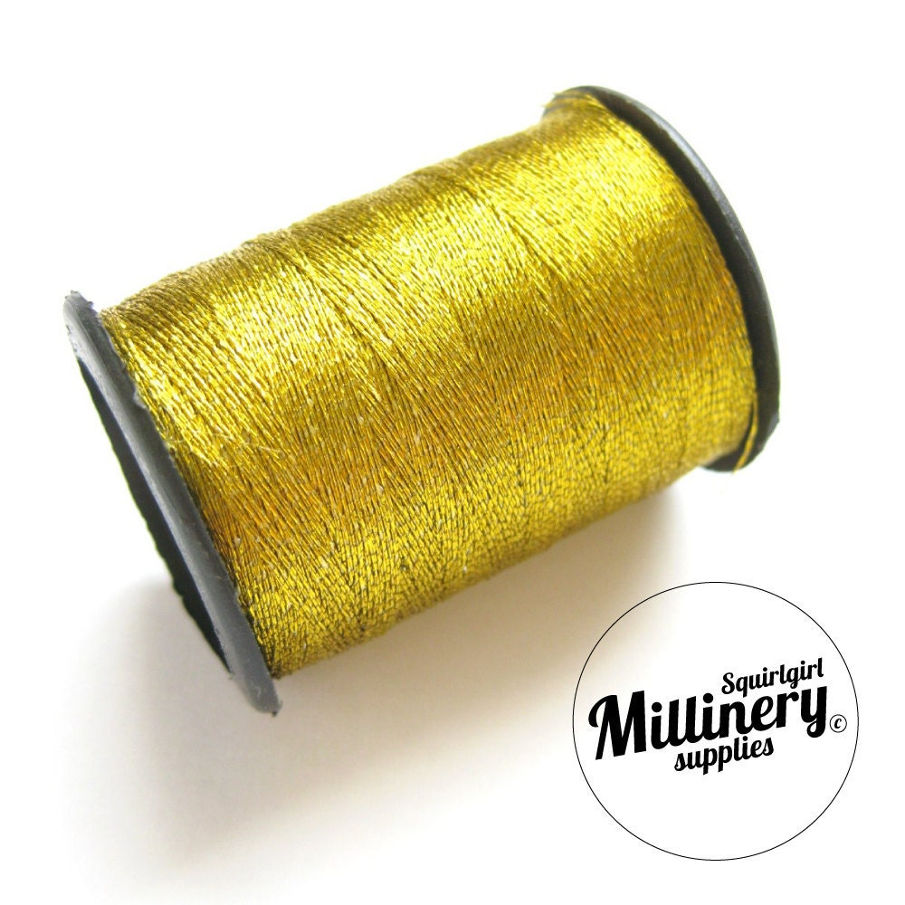 Metallic sewing embroidery thread gold yard spool