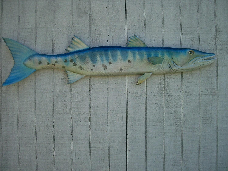 Baby Barracuda Fish Wood Fish 4 Foot Barracuda