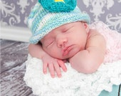Hand Knit Tropical Baby Hat