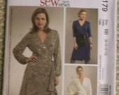 McCalls M5179  Misses Wrap dress Pattern Size 8-10-12-14