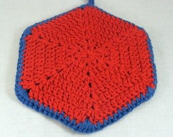 Crocheted hot pad or trivet