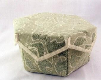 Mint green hexagon box