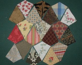 20 Precut Kite charm quilt pieces