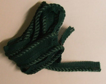 Royal green 1/4 inch  Decorative cord with lip