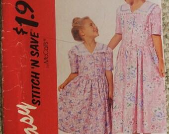 McCalls Easy Stitch 'N Save 6354 girls dress size 3-4-5-6