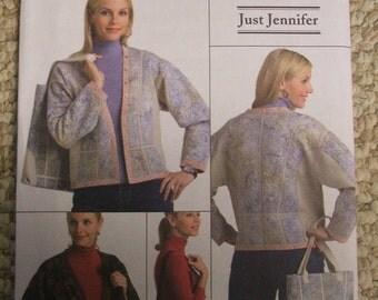 Butterick B4867 Just Jennifer coat and bag Size Xsm-Sml-Med
