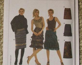 Burda 8033  Skirts  sizes 6-8-10-12-14-16-18