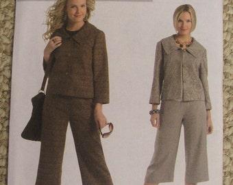 Butterick 4934 Unlined Jacket 3/4 Sleeve Capri Pants Misses 16-18-20-22