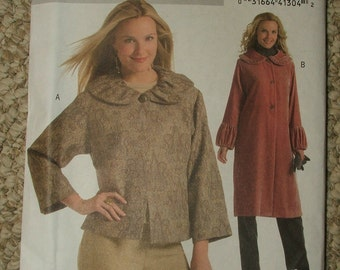 Butterick Fast and Easy B4930 Jacket and coat sizes XS-S-M