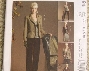 McCalls M5194 Lined jackets, lined top lined skirt and pants sizes 6-8-10-12