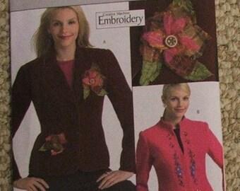 Butterick B4866 Creative Machine Embroidery jacket pattern sizes 14-16-18-20