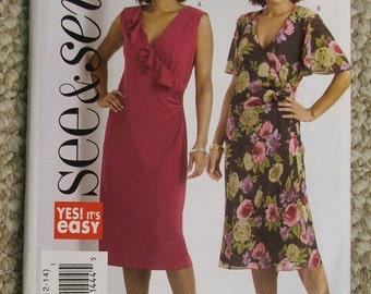 Butterick See and Sew B4958 dress pattern Size 8-10-12-14