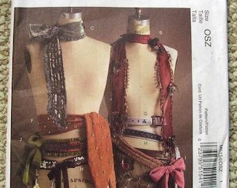 McCalls Pattern M5154 - Fashion Accessories Womens Scarves & Belts UnCut