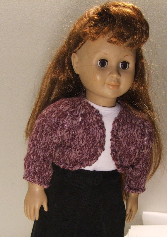 Little Mauve Bolero fits American girl doll