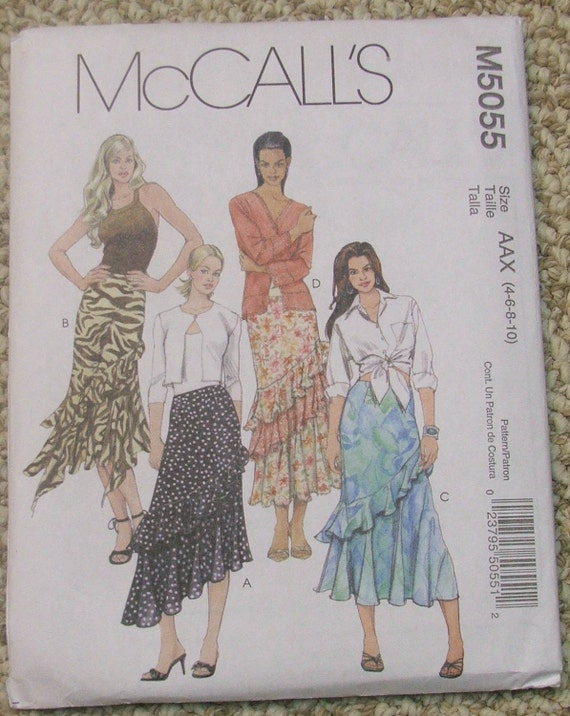 McCall's M5055 Skirts Adult Size 4-6-8-10