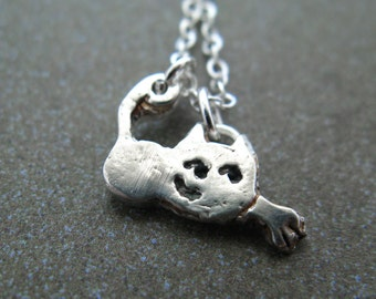 Misty The Kitty Cat Silver Necklace