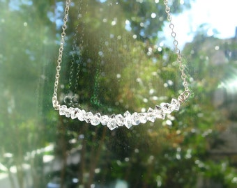 Herkimer Diamonds Modern Necklace Sterling Silver